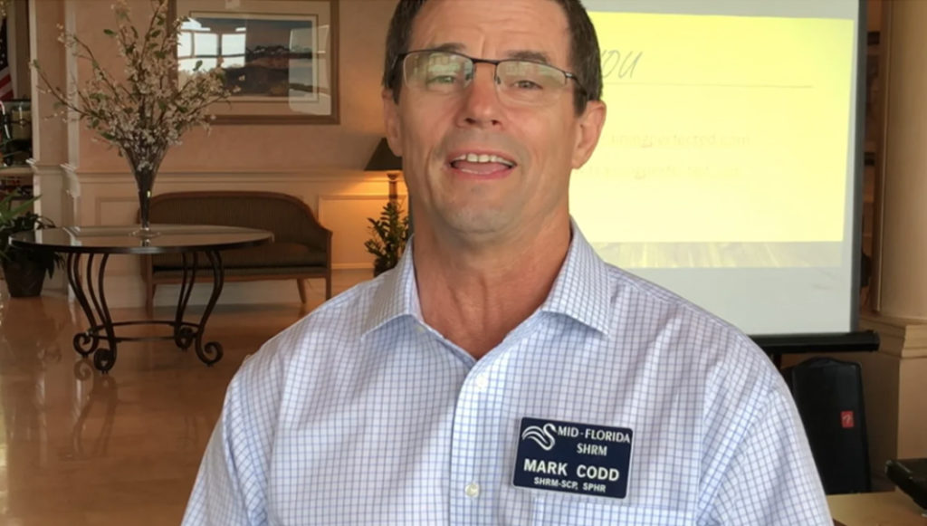 Mid Florida SHRM Testimonial from Mark Codd